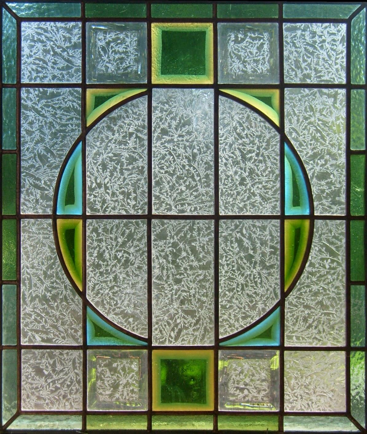 vitráž s broušenými skly