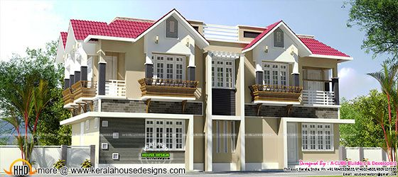 Duplex house in Kerala