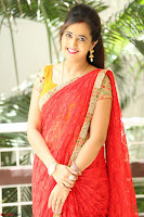 Lasya Cute Beauty in Saree Backless Choli at her Interview ~  Exclusive 049.JPG