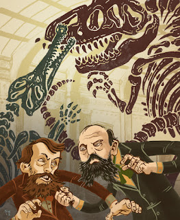 Guerra por los fósiles de dinosaurios entre Cope y Marsh