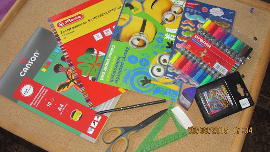 Back To School#3 Tablica korkowa DIY