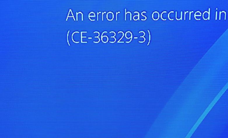 حدث خطأ في برمجيات النظام ce-36329-3