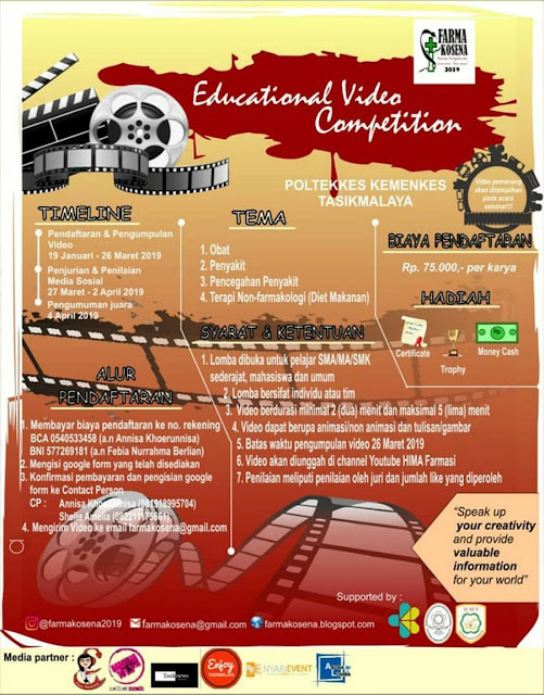 Lomba Edukasi Video Farmakosena 2019 Umum [26/03/2019]