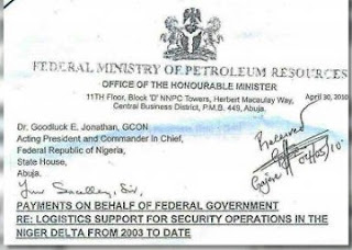 Document Signed By Diezani Exposes Buhari's Minister, Dambazau, Buratai Embezzles Billions From NNPC, Others