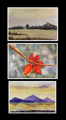 water colour painting done by participant during art workshop by Manju Panchal