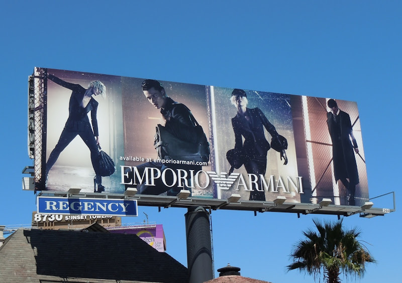 Emporio Armani Fall Winter 2011 billboard