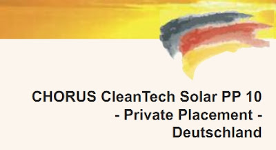 CHORUS Cleantech Solar PP 10 Private Placement Deutschland Privatplatzierungen