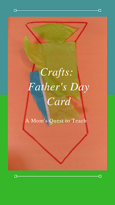 Front of Children's Father's Day Card