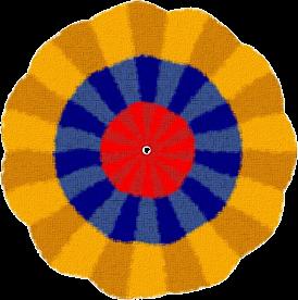 VENEZUELA ESCARAPELA DE SEDA O TELA 1810 nacional ceo dir 119 cucarda insignia