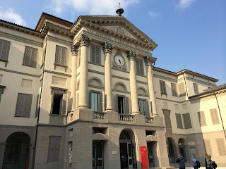 The magnificent facade of Bergamo's Accademia Carrara, which houses a number of Moroni portraits
