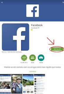 Instalação do Facebook no celular