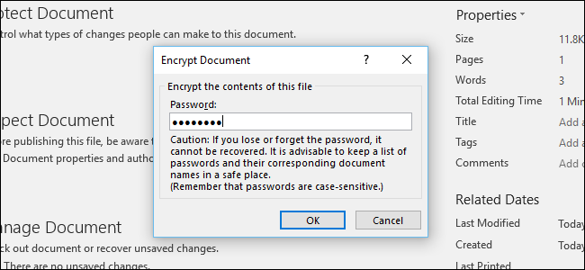 how to keep password for pdf document