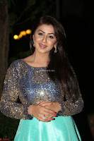 Nikki Galrani in Green Skirt  Top at Marakathamani music launch ~  Exclusive (87).JPG