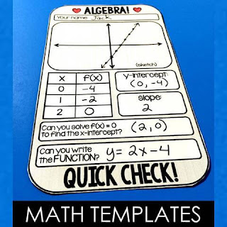 Free Math templates for Algebra, Algebra 2 and even one for Geometry