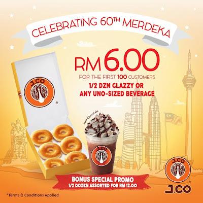 J.CO Donuts & Coffee Malaysia Merdeka Promo