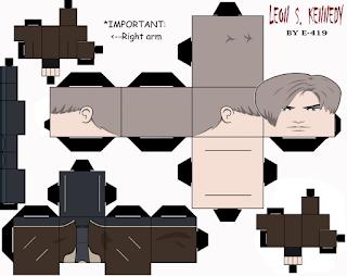 Cubeecraft Resident Evil - Leon S. Kennedy