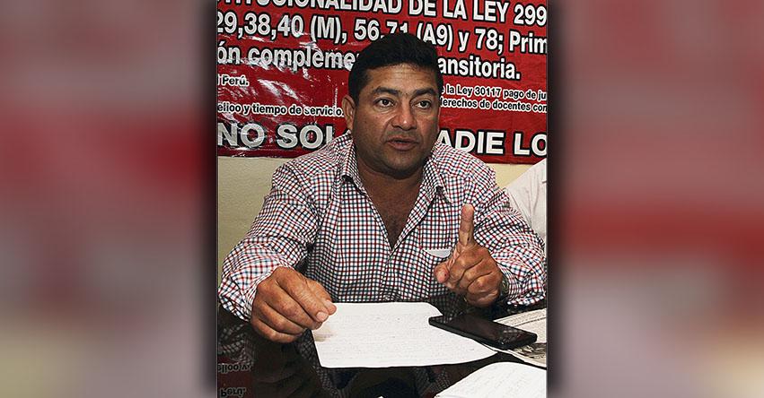 Dirigentes del SUTEP en el norte descartan sumarse a huelga de profesores
