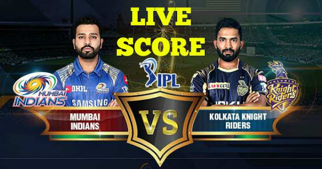 IPL 2018 Match 37 MI vs KKR Live Score and Full Scorecard