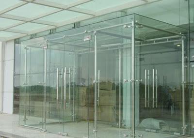Cửa kính cường lực bản lề sàn cao cấp