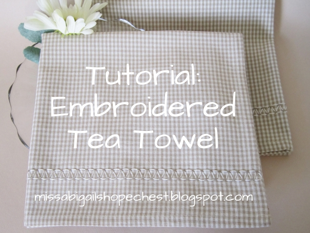 Miss Abigail S Hope Chest Tutorial Hand Embroidered Tea