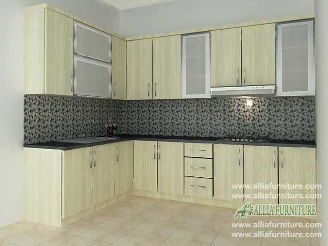 kitchen set minimalis sudut l model palm