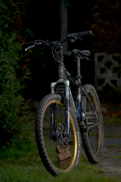 full length bike in the garden 300mm