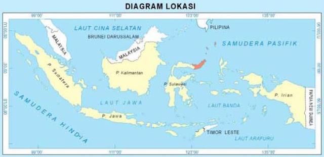 peta sulawesi utara dalam gugusan peta indonesia