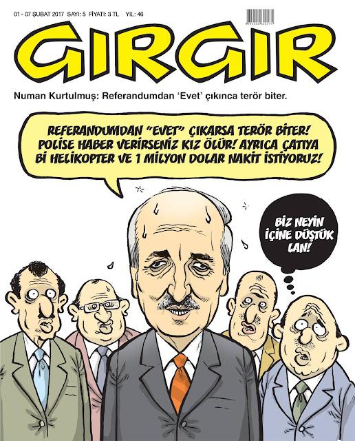 Gırgır Dergisi | 01-07 Şubat 2017 Kapak Karikatürü