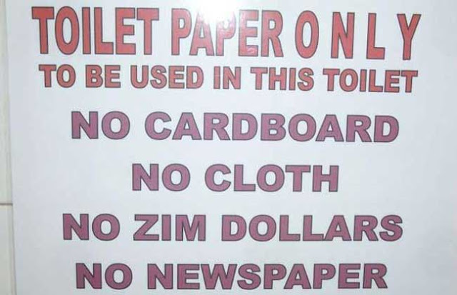 """Trillion Dollar Butt"" by The Happily Ever After Agency  7/7/17 Zimbabwean-dollars-for-toilet-paper"