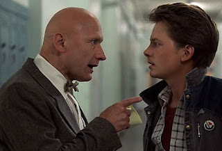 Mr. Strickland tells Marty McFly he is a slacker.