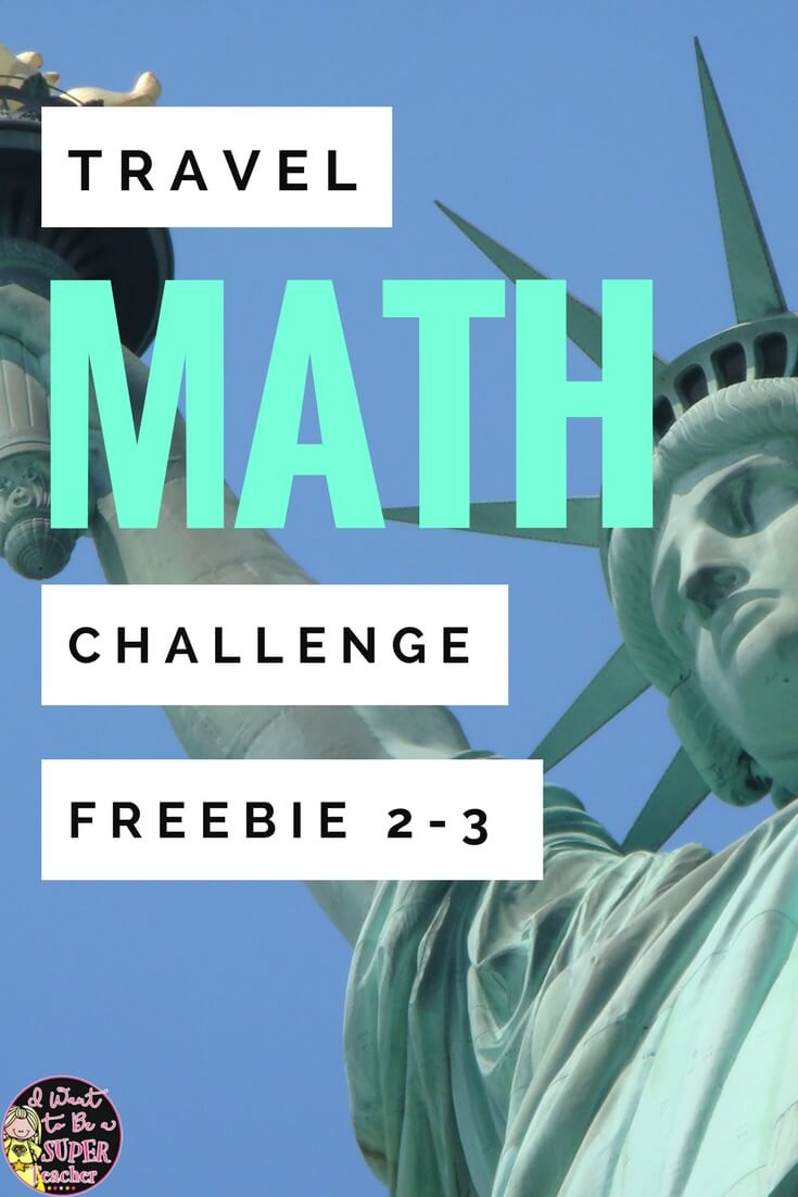 Statue of Liberty Math Challenge Freebie 2-3 - Classroom Freebies