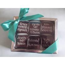 Convite Chocolate Padrinhos de batismo