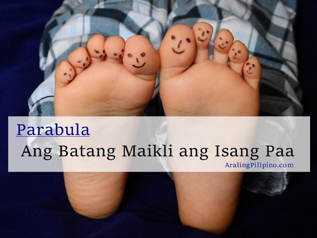 Halimbawa ng Parabula Ang Batang Maikli ang Isang Paa