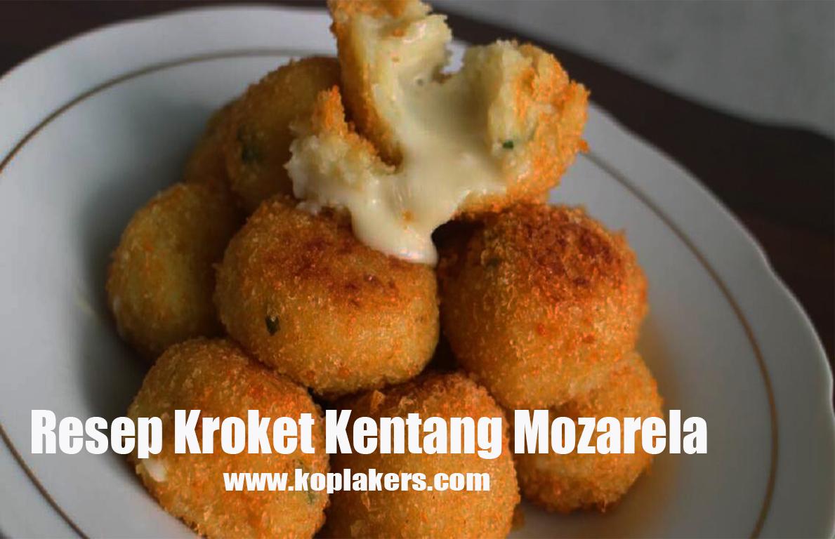 Cara membuat kroket kentang isi mozarella