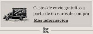 Kiehl's: gastos de envío gratis a partir de 60€