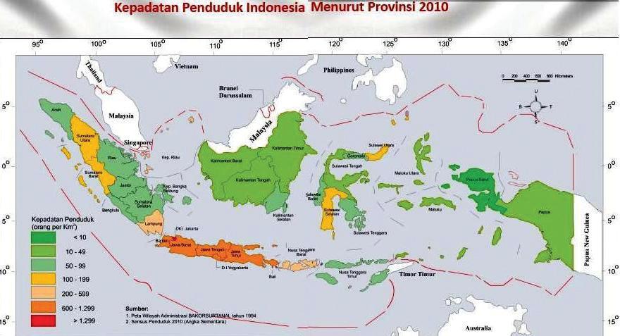 Indonesia merupakan bangsa yang dikaruniai Tuhan dengan sumber daya alam yang sangat berag Persebaran Penduduk di Indonesia