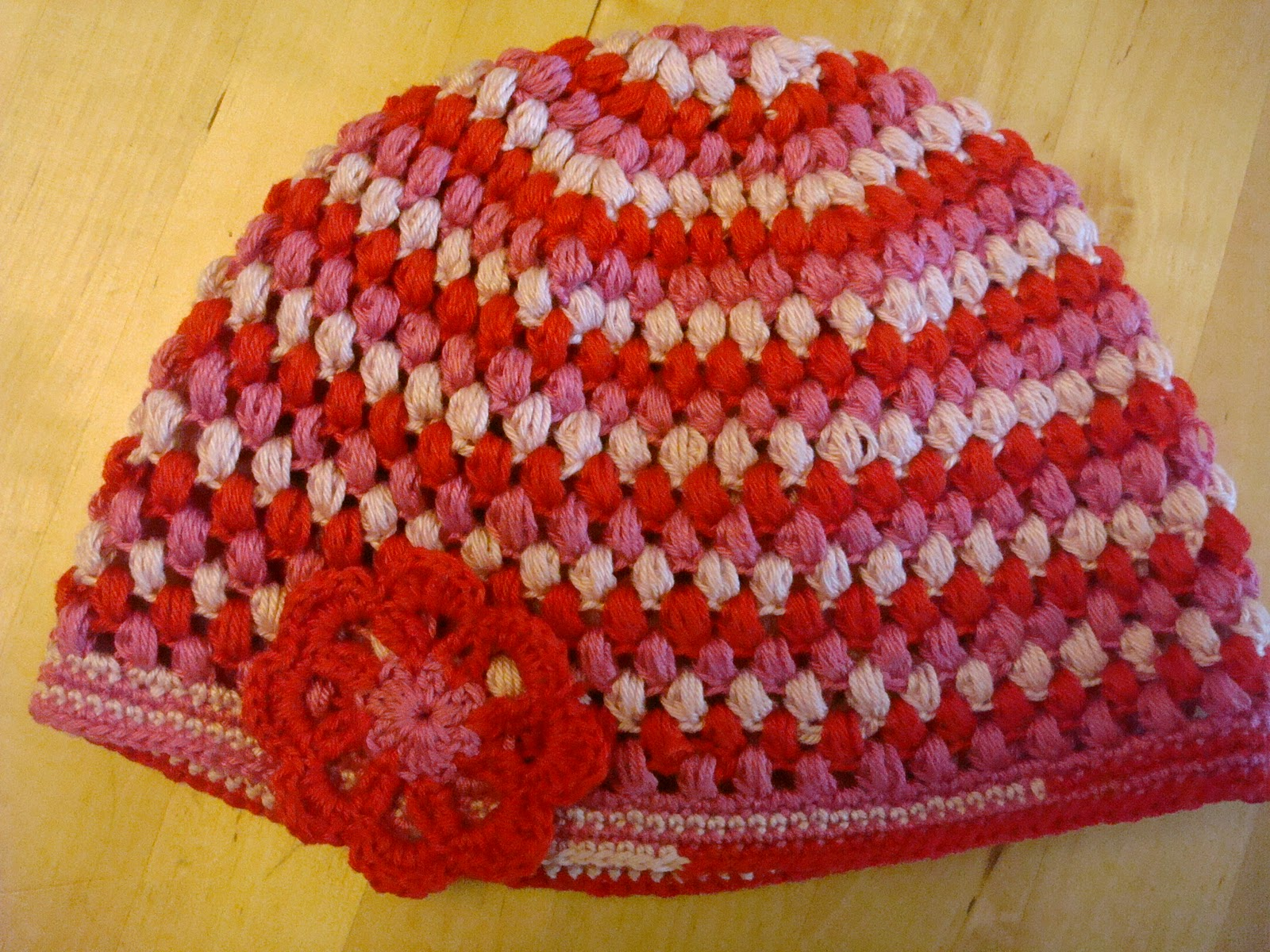 3 Is A Party Patroon Peuter Puff Stitch Hat