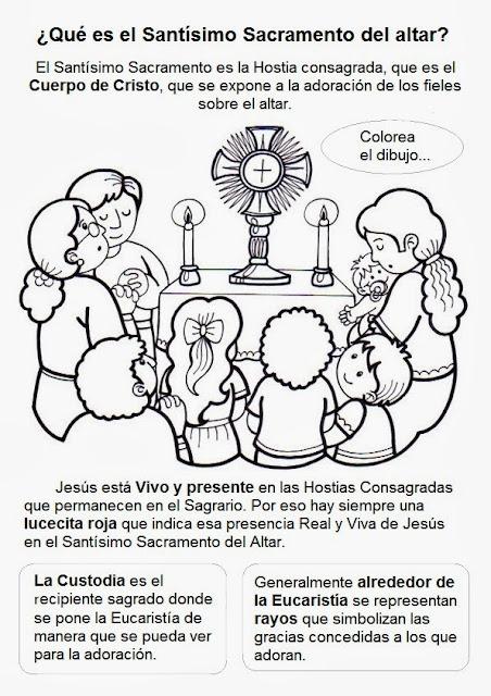 Elementos Del Matrimonio Catolico : Parroquia la inmaculada fichas sacramentos eucaristía