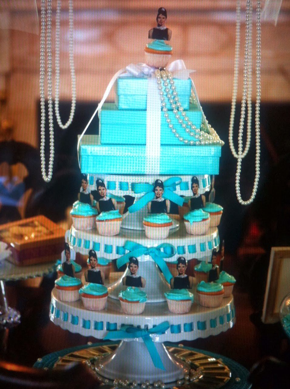 Tiffany Blue Bridal Shower Cake - CakeCentral.com  Tiffany Bridal Shower Cakes