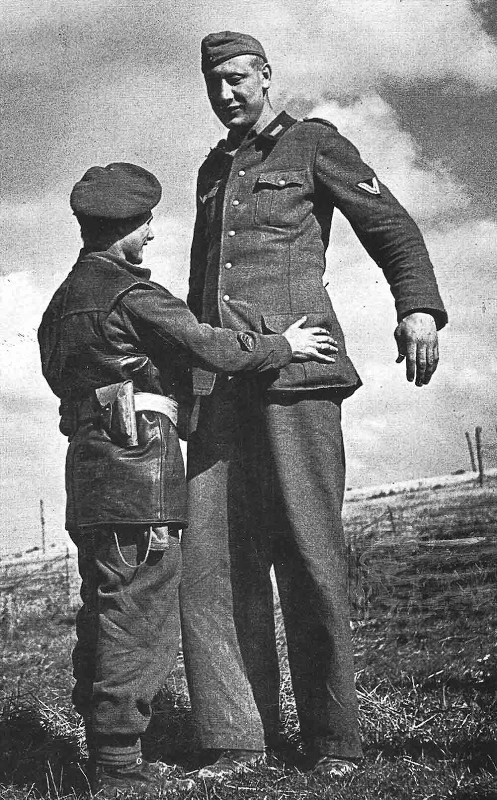 Nacken captured at Calais, France in 1944 when he was 38 years old.