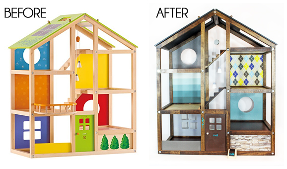Customize a Hape Dollhouse to look like your own home