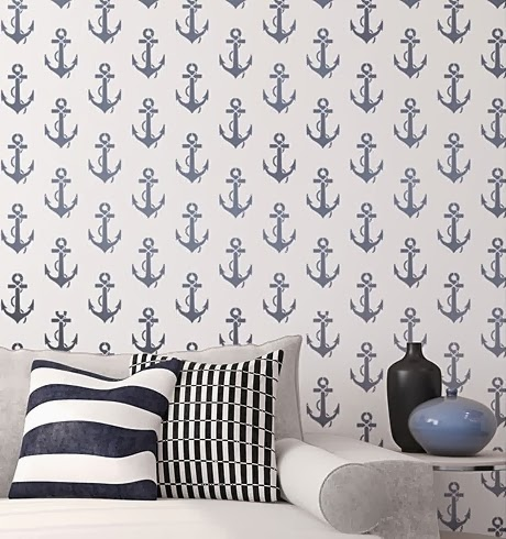 anchor wall stencil