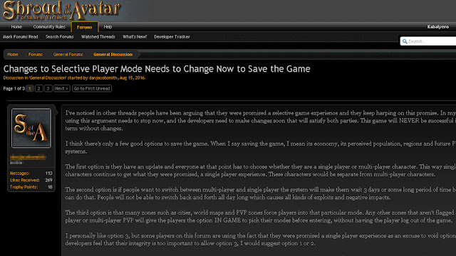 Dear Richard Garriott, Please Never Remove Or Change Single Player Online Of Shroud Of The Avatar