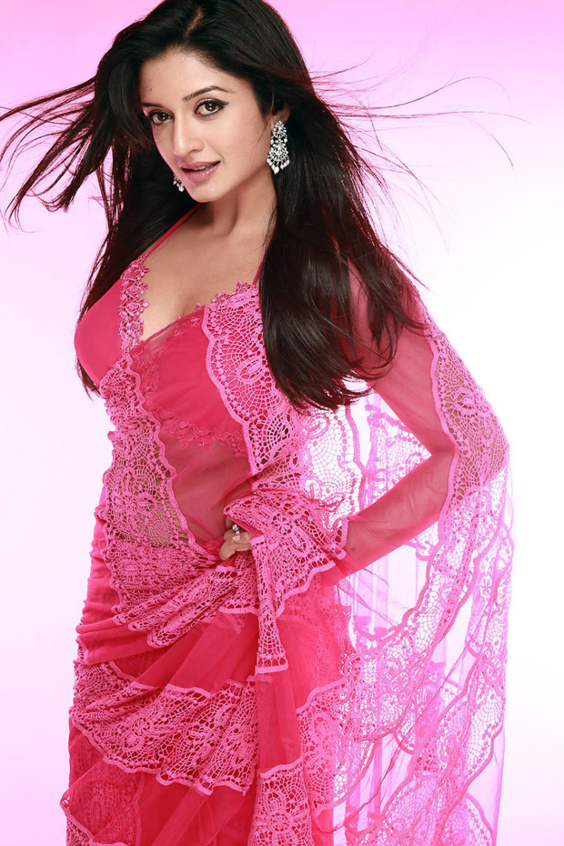 Vimala Raman Hot Stills In Pink Saree