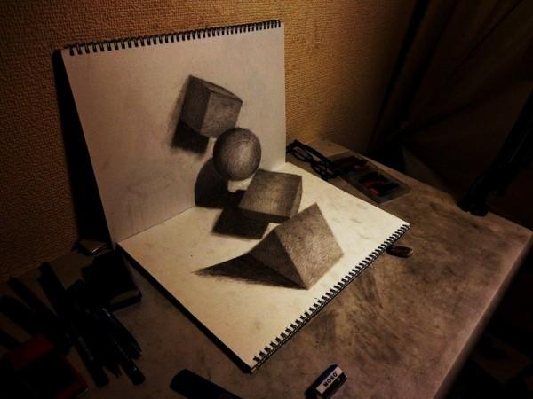 Gambar Sketsa 3 Dimensi Yang Kreatif Keren dan Juga Menakjubkan-3