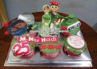 Cupcake Ulang Tahun Tema Tentara Untuk Suami