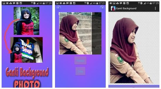 aplikasi android pengganti backgroud foto