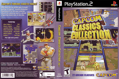 Jogo Capcom Classics Collection Vol.1 PS2 DVD Capa