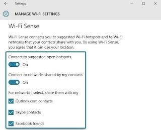 Disable Wi-Fi Sense