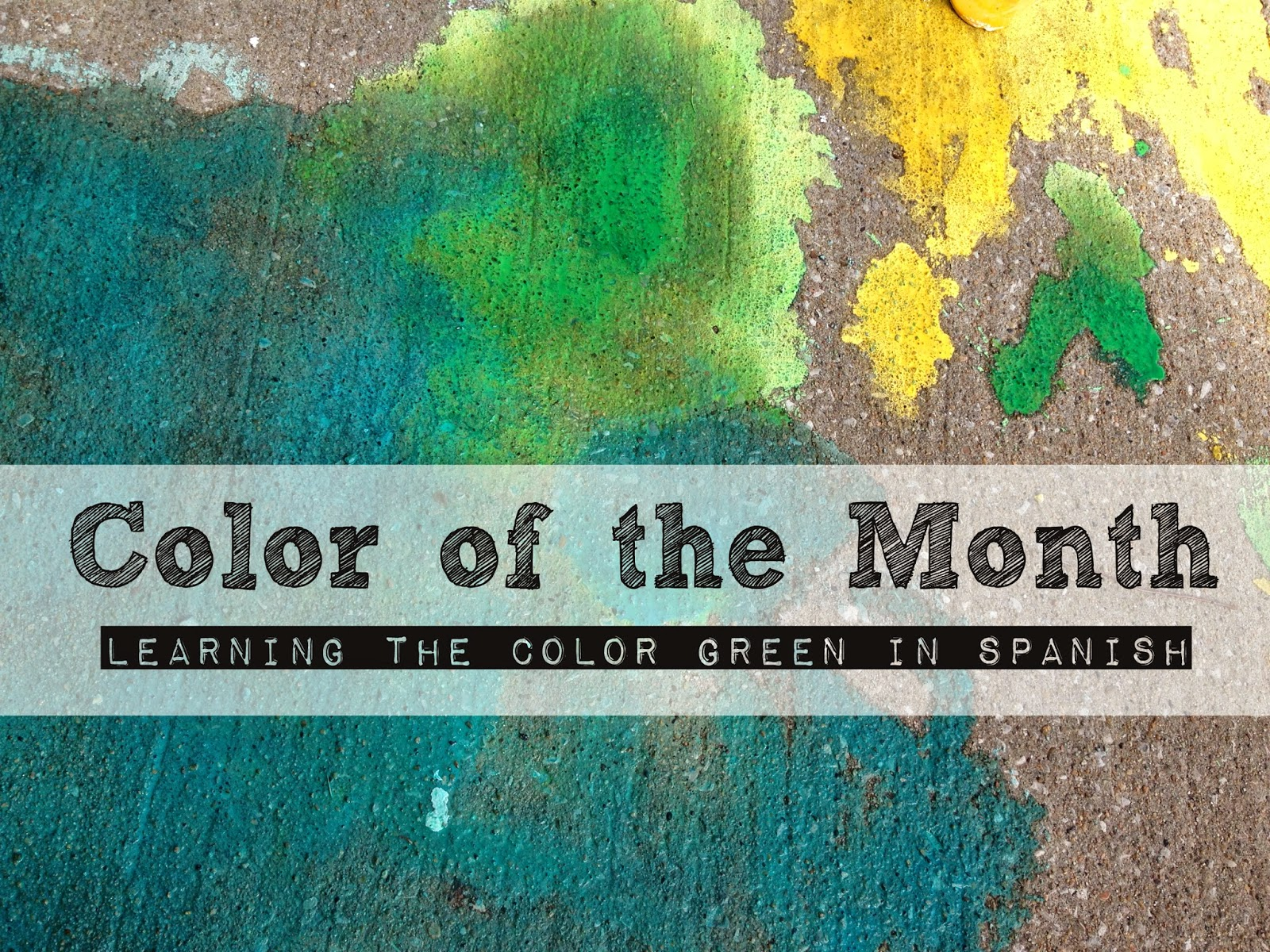 Color Of The Month Activities Verde